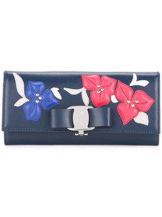 кошелек с цветочными нашивками Salvatore Ferragamo