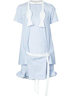 короткое платье в полоску Sacai