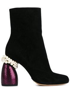 декорированные ботинки  Dries Van Noten