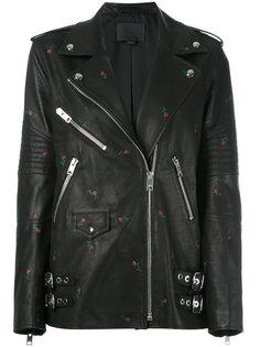 байкерская куртка с тиснеными розами Alexander Wang