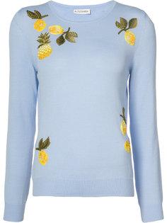 свитер с вышивкой ананасов Altuzarra