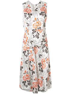 платье с цветочным принтом Victoria Beckham