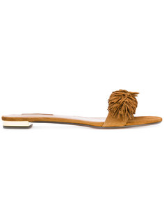 сандалии с бахромой  Aquazzura