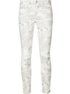 рваные джинсы с цветочным принтом 7 For All Mankind