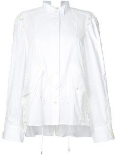 рубашка с кружевом Sacai