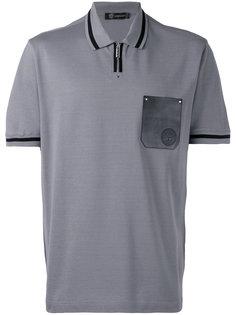 рубашка-поло с контрастным карманом Versace