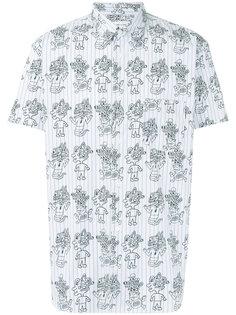 полосатая рубашка с принтом монстров Comme Des Garçons Shirt