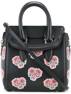 сумка-тоут Mini Heroine с цветами Alexander McQueen