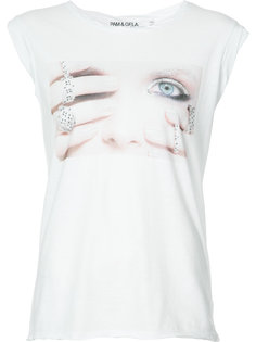 printed face T-shirt Pam & Gela
