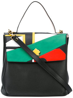Reversible Swallows Pop Inlaid tote Giancarlo Petriglia