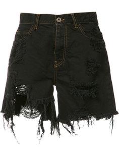 джинсовые шорты с рваными деталями Faith Connexion