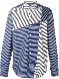 рубашка в полоску со вставками  Loewe