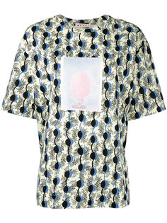 футболка с абстрактным узором Marni