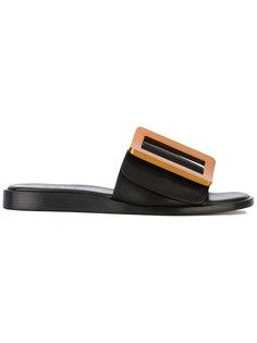 oversized buckle sandals Boyy