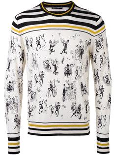 свитер с рисунком Jazz Club Dolce & Gabbana