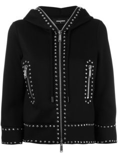 cropped studded hoodie Dsquared2
