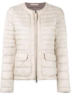 стеганая куртка с контрастной окантовкой Woolrich