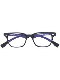 square frame glasses Family Affair