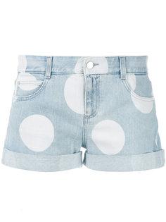 джинсовые шорты в горошек  Stella McCartney