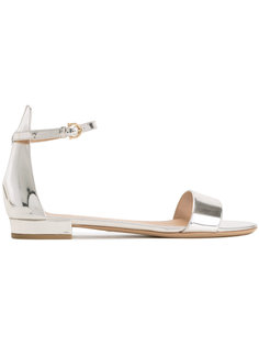сандалии с эффектом металлик Salvatore Ferragamo