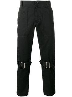 брюки с пряжками на коленях Comme Des Garçons Shirt