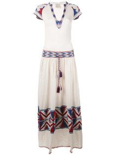 трикотажное платье с ацтекским узором Laneus