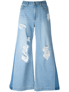 distressed flared jeans Steve J & Yoni P
