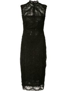 облегающее кружевное платье Nicole Miller