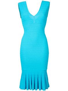 облегающее платье с V-образным вырезом Jay Godfrey