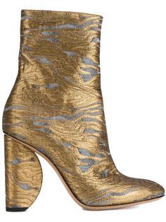 жаккардовые ботинки  Dries Van Noten