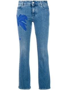 укороченные джинсы с вышивкой пальмы Stella McCartney