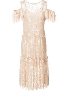 кружевное платье с открытыми плечами Gold Hawk
