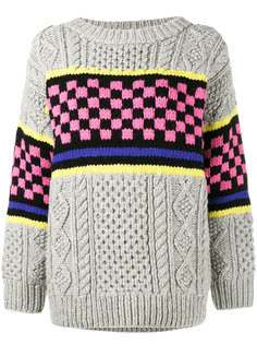 Chunky Checkerboard Knitted Jumper  Ashley Williams