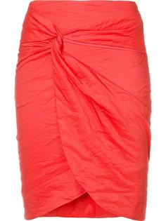 юбка с перекрученной деталью Nicole Miller