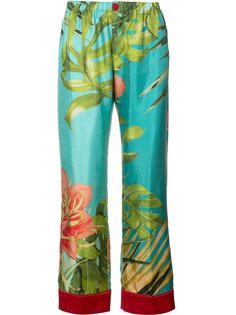 пижамные брюки с тропическим принтом F.R.S For Restless Sleepers