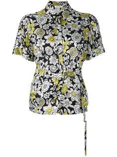 belted floral shirt  Christian Wijnants