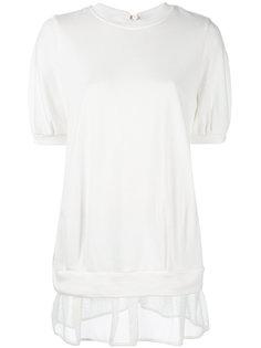 футболка с полупрозрачным краем  Moncler