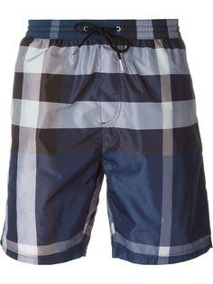 шорты для плавания в клетку Burberry