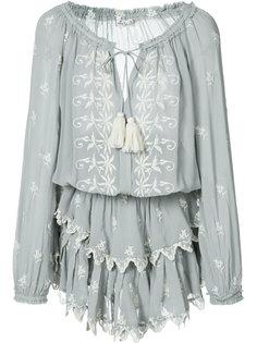 короткое платье с вышивкой Love Shack Fancy