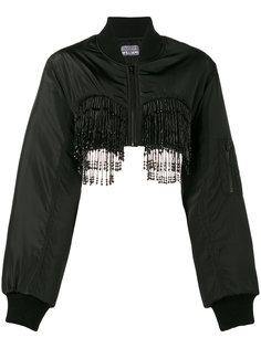 Beaded Bra Bomber Jacket Ashley Williams