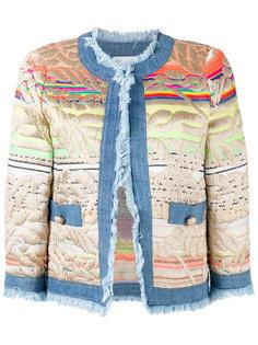 пиджак с вышивкой и джинсовой отделкой  Giada Benincasa