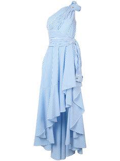 асимметричное платье в полоску Talbot Runhof
