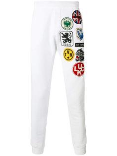 спортивные брюки с нашивками Dsquared2