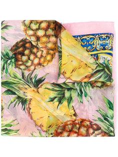 шарф с принтом ананасов Dolce & Gabbana