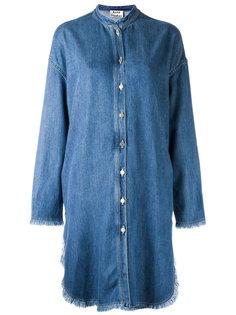 удлиненная джинсовая рубашка Acne Studios