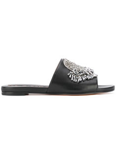 embellished slip-on sandals Rochas