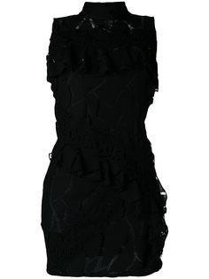 платье с высокой горловиной и оборками  Iro