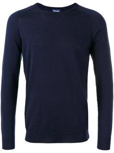 ribbed trim sweatshirt  Drumohr