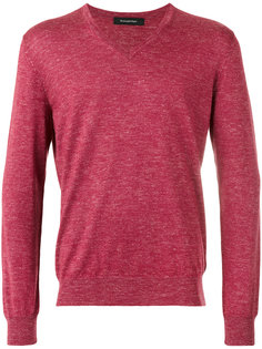 slub knit v-neck sweater Ermenegildo Zegna