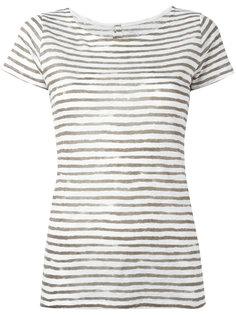 semi-sheer striped T-shirt Majestic Filatures
